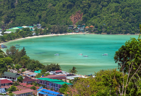 View Point Koh Phi Phi Don in andaman sea, Phuket, Krabi, South of Thailand.
