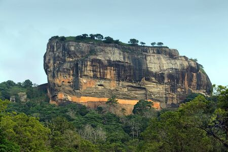 sigiriya: Sigiriya Rock Fortress In Sri Lanka Editorial