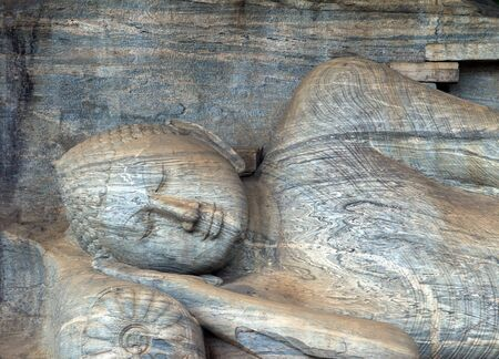 gal: Buddha statue carved in to the rock is the largest in Gal Vihara, Sri Lanka