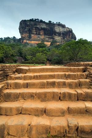 ceylon: stairs Sigiriya Rock Fortress, Sri Lanka, Ceylon Editorial