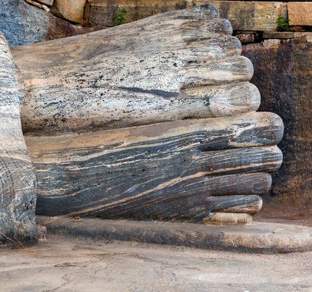 nirvana: Statue Buddha attained nirvana Gal Vihara of Polonnaruwa, Sri Lanka.