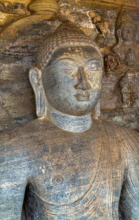 gal: Buddha statue close up at Gal Vihara, Polonnaruwa of Ceylon, Sri Lanka.