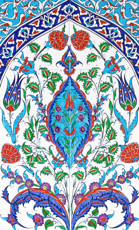 ceramic tile: decor ceramic tile Turkish ornamental flower oriental background