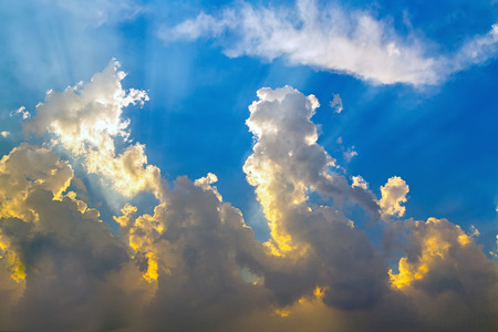 beauty sky background clouds shined Stock Photo