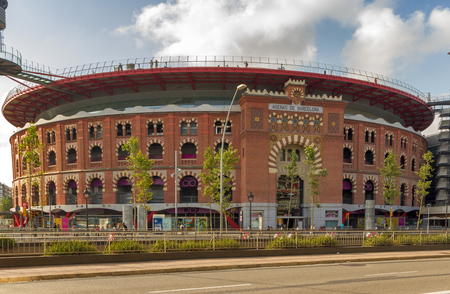 Barcelona, Spain - August 12, 2012 : Plaza de toros de las Arenas Shopping Mall in Barcelona, Spain Editorial