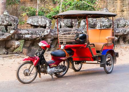 Asian rickshaw Taxi in Cambodia Tuk Tuk of Angkor Wat