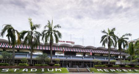 KUALA LUMPUR, MALAYSIA 19 FEB 2015: Stadium Merdeka (Independence Stadium) is a sports stadium, in Kuala Lumpur, Malaysia. It was initially erected for Malaysia's declaration of independence on 31 August 1957.