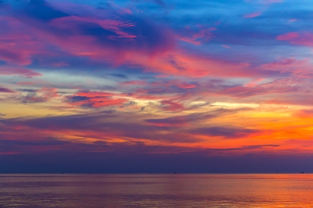 dramatic sky with cloud at sunset tropical, Sky background.Fantastic dreamy sunrise landscape