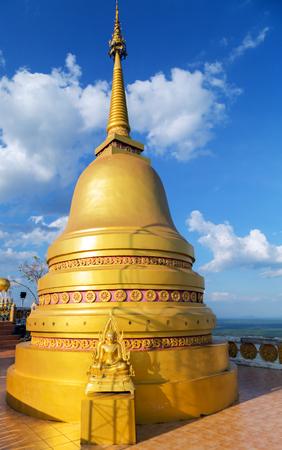 Religion Culture. Stupa in Tiger Cave Temple Wat Tham Sua Krabi Province Thailand 版權商用圖片