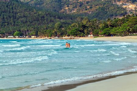 seascapes: samui island sea beach summer nature landscape tropical vacation Stock Photo