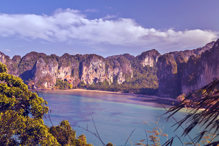 Summer tropical Beach, Thailand Landscape holiday background concept. Stock Photo