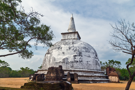 Kiri Vehera Ancient ruins part of Polonnaruwa of Ceylon, Sri Lanka.