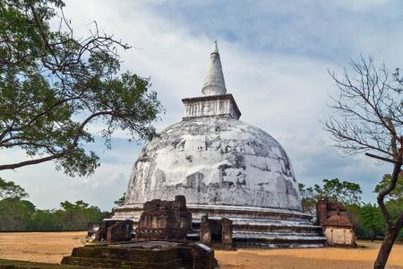 archaeologies: Kiri Vehera Ancient ruins part of Polonnaruwa of Ceylon, Sri Lanka.