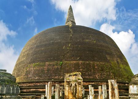 Ancient Rankoth Vehera ruins in Polonnaruwa city temple Sri Lanka of Ceylon. Stock Photo