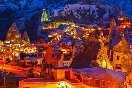 mountain hotel night Goreme