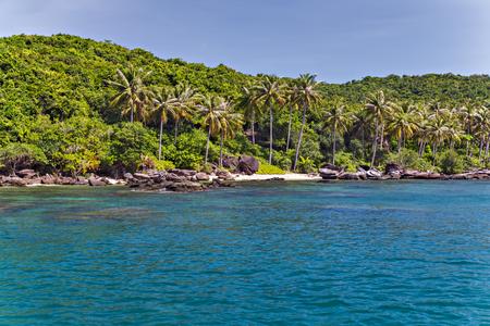 Landscape of paradise tropical island andaman sea in Krabi, Thailand. limestone rocks