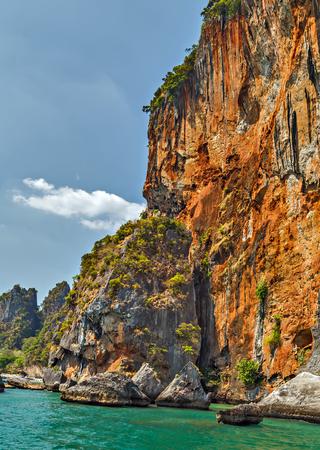 Landscape of paradise tropical island andaman sea in Krabi, Thailand.
