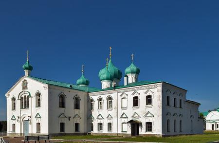 Churches of the Transfiguration and Saints Zachary and Elisabeth St. Alexander of Svir Monastery. Leningrad Oblast. Russia