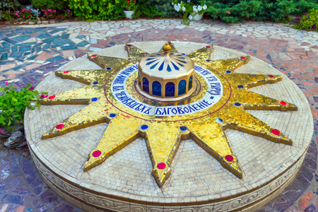 ODESSA, Ukraine - AUGUST 19, 2013: Star of Bethlehem14-point or Christmas Stars the birthplace of Jesus Christ. Orthodox Holy Dormition Monastery. Editorial