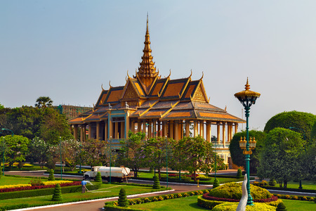 The Moonlight Pavilion, Royal Palace, Phnom Penh, Cambodia, Indochina, Southeast Asia,