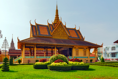 The Moonlight Pavilion, Royal Palace exterior in Phnom Penh, Cambodia