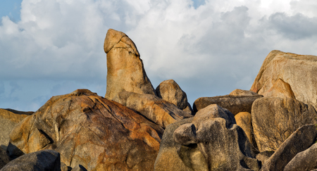 rock formations on Koh Samui south coast, known as Grandpa and Grandma look Thailand mountains sea panoramic landscape