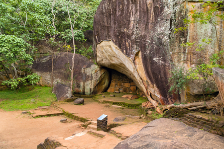 Landscape of ruin Royal Gardens and Pools, Lion Rock Sigiriya, Attractions, Historical Places in Sri Lanka Editorial