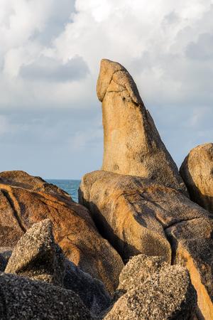 The Grandfather Rock, shaped pillar Koh Samui, Thailand