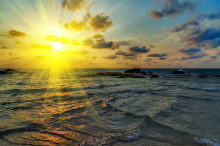 Sunrise Spring majestic sea beach summer nature landscape tropical vacation Stockfoto