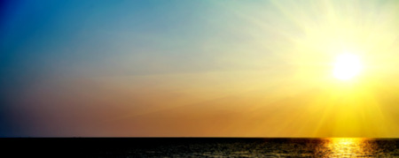 Spring sunset sea nature landscape tropical vacation