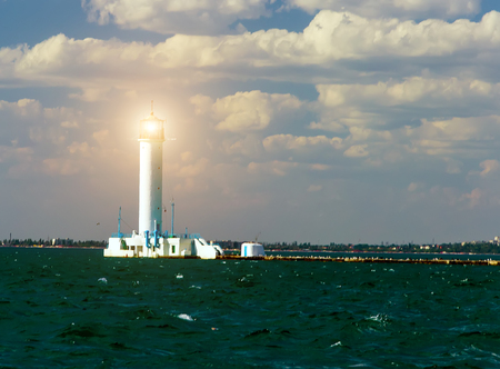 The Vorontsov Lighthouse is a red-and-whit signal light, seascape lighthouse in the Black Sea port of Odessa, Ukraine.