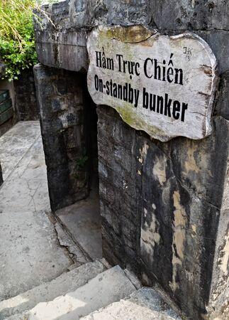 Cat Ba Island, Lan Ha Bay, Vietnam - November 30, 2014: Cannon Fort. The Japanese built tunnels World War II, French during the Indochina War, Viet Cong during the Vietnam War.