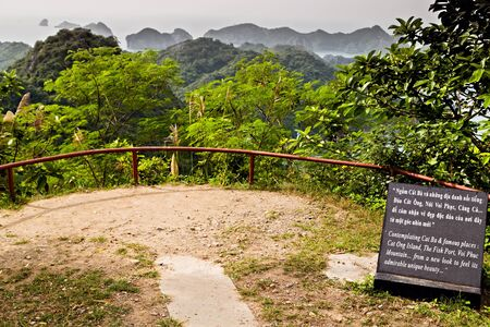 Cat Ba Island, Lan Ha Bay, Vietnam - November 30, 2014: Built right on top of the mountain, the military complex, Canon Fort had full control gateway port of Hai Phòng.
