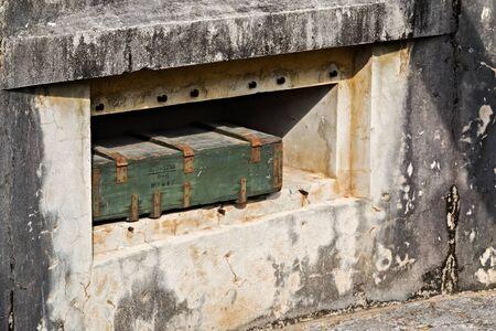 Cat Ba Island, Lan Ha Bay, Vietnam - November 30, 2014: Cannon Fort. The Japanese built tunnels and gun posts Ammunition depot World War II, Indochina War, Viet Cong during the Vietnam War. Editorial