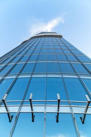 Dubai, uae - january 23, 2016: At The Top Sky tower Downtown Dubai, building architecture, UAE