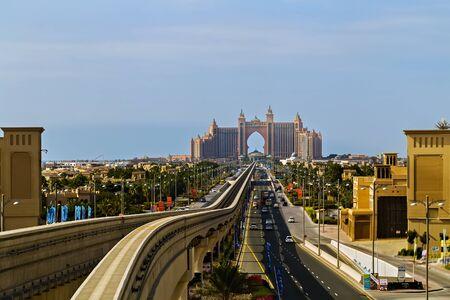 DUBAI, UAE - January 26, 2016: Atlantis The Palm, Dubai is a luxury hotel resort located at the apex of the Palm Jumeirah in the United Arab Emirates.