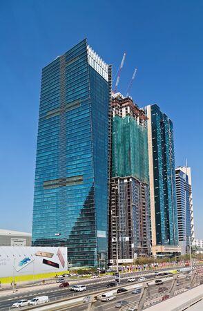 DUBAI, UAE - January 24, 2016: City Skyscraper View Cityscape Dubai, the United Arab Emirates.
