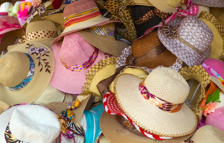 Wide brimmed straw hat ribbon stand colored hats straw-like materials from different plants or synthetics for sale