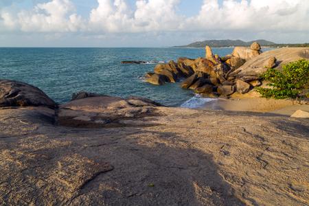 Lamai Beach, Koh Samui, Thailand, stones concept sexy rock formations most popular.
