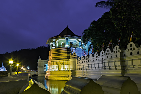 Buddhist Temple In the island of Sri Lanka lays Kandy City. The crown jewel of the city is the famed Sri Dalada Maligawa, also known as the Temple of the Tooth. Sri Lanka. Asia.