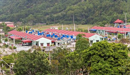 ecology village Catba national forest park attractions. Cat ba island in Halong bay, Vietnam Reklamní fotografie