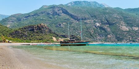 Adventures and travel concept. Scenic landscape. Seascape on Zakynthos island in Greece