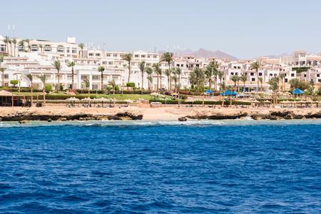 Bay Akaba hotel resort Red sea mountain landscape Sharm El Sheikh in Egypt
