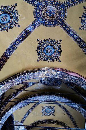 ISTANBUL, TURKEY - 1 MAY, 2014: Interior museum of the Hagia Sophia (Hagia Sofia, Ayasofya). Istanbul city landmark and architectural. Byzantine architecture