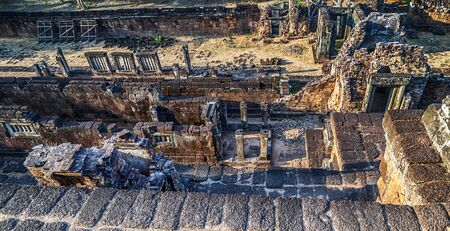 Majestic Banteay Srey Temple intricate carvings that can be seen in the Angkor Wat region Cambodia
