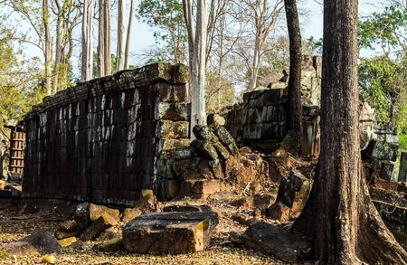 Prasat Krahom, the second-largest structure at Koh Ker. Archaeological Landscape of Koh Ker at the Angkor Wat site in Northwest Cambodia