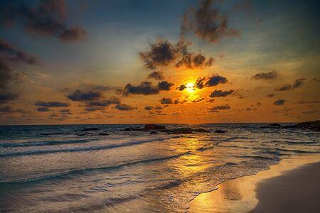 Ozean Strand Sonnenaufgang Atlantik Dominikanische Republik