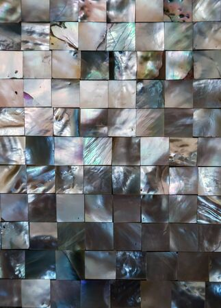 pearl tile texture mosaic of nacre mother-of-pearl sea shell background