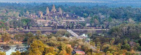 Angkor Wat aerial view skyline Siem Reap Cambodia Cityscape Stock fotó