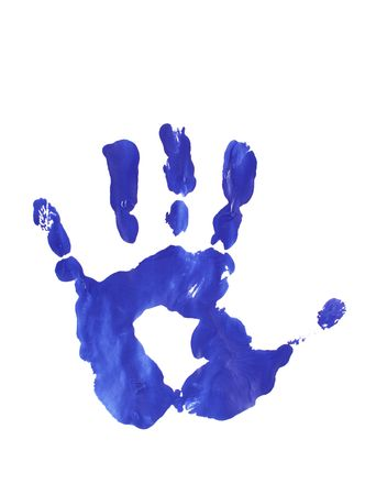 image from creative series: blue stamp of palm  photo